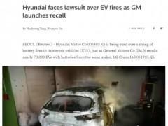 现代电动车在韩因起火遭遇集体诉讼