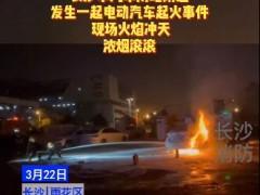 长沙市汽车南站桃花段路旁充电站,发生一起电动汽车着火